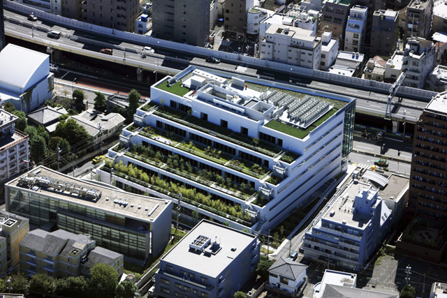 Azabu green terrace kajima design kajima corporation for Terrace building