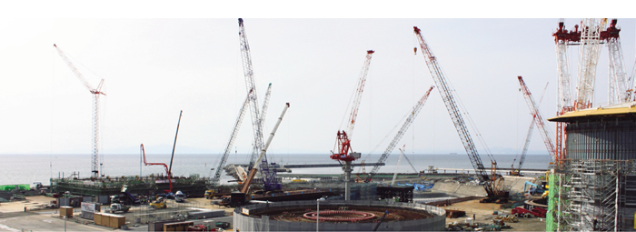 大間原子力発電所新設工事の写真