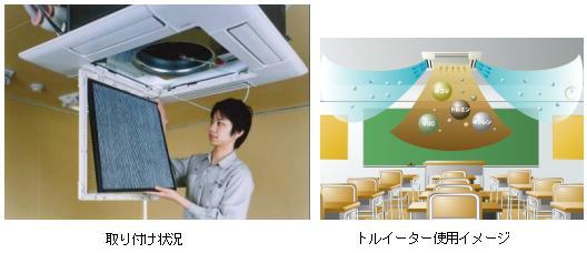 天井カセット形パッケージエアコン室内機用VOC除去フィルタを開発