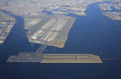 D Runway, the fourth runway at Tokyo International Airport (also called Haneda Airport)