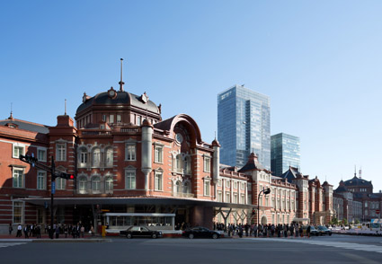 The work to preserve and restore Tokyo Station Marunouchi Building